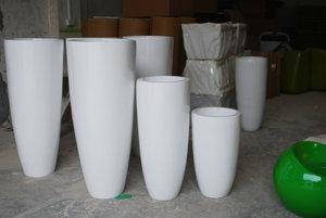 玻璃钢三个花盆组合