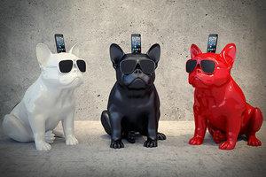 玻璃钢材质雕塑哈巴狗